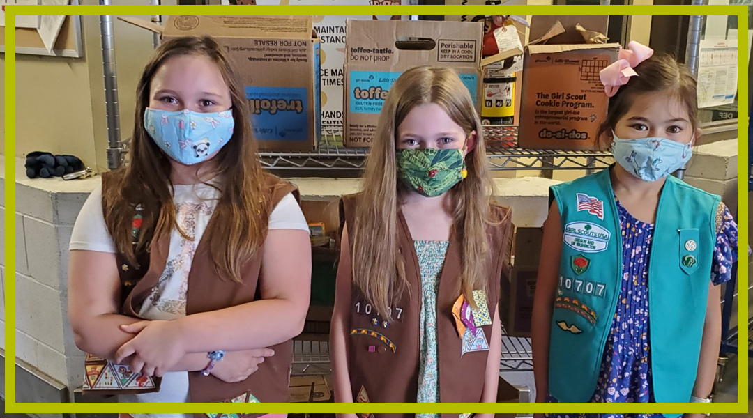 8-27-2020 Local Girl Scouts Donate Cookies to Homebound Seniors
