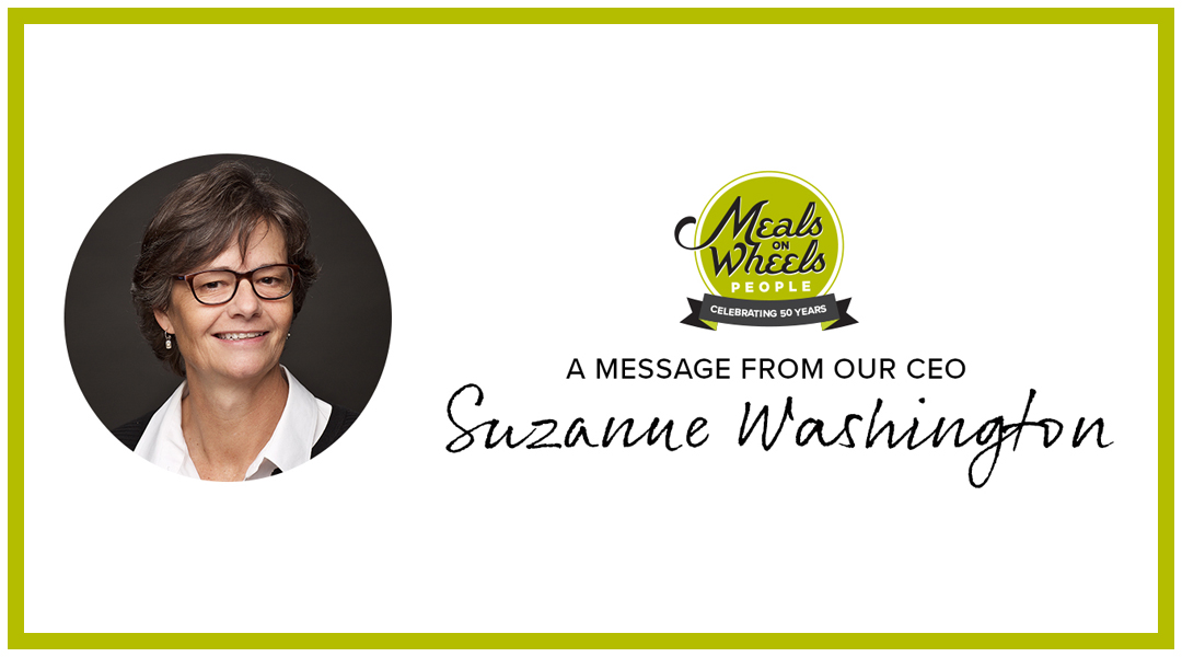 A message from our CEO Suzanne Washington